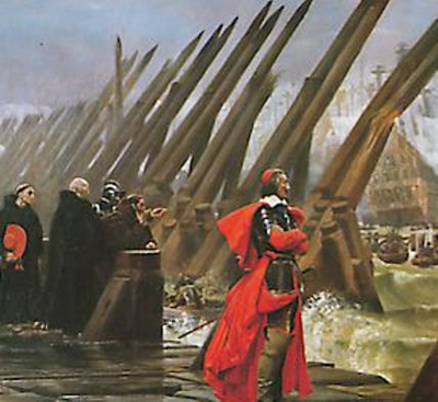 Richelieu at the Siege of La Rochelle'