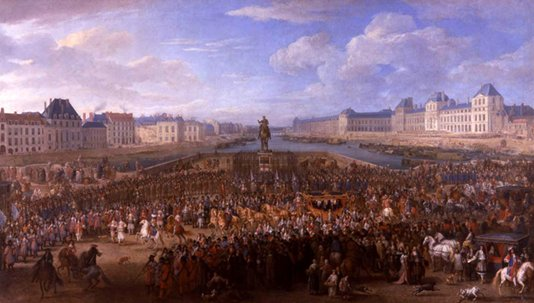 Louis XIV entering Paris; Wikimedia commons