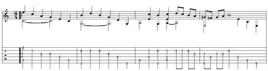 Part of the score, from www.free-scores.com