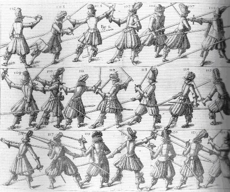 Wallhausen's 1617 study of pike and sword